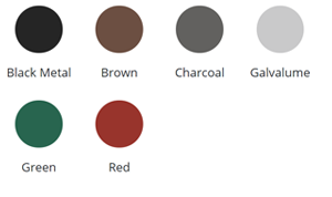 Metal Roof Standard Colors