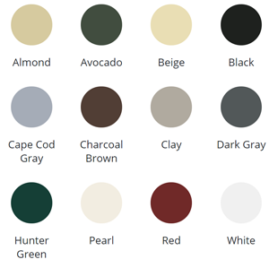 Siding & Trim Standard Colors