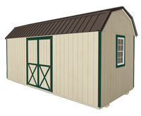 Click To Build Template B for Side Lofted Barn Shed