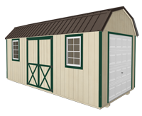 Click To Build Template C for Side Lofted Barn Shed